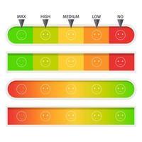 klantenfeedback meter set vector