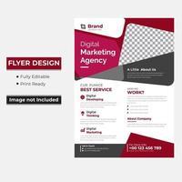 marketing flyer met abstracte rode en grijze vormen vector