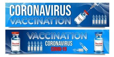 horizontale vaccinatie banner set vector