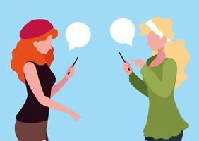 jonge tieners met behulp van smartphones