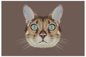 realistische kat hoofd hand tekenen vector