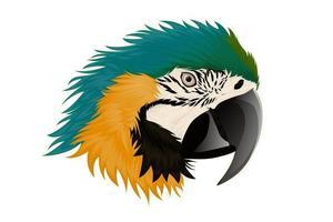 realistische ara papegaai