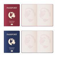 realistische paspoort illustratie