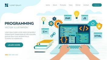 programmeren codering concept vector