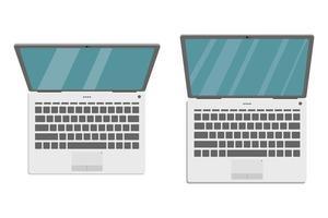 set van laptop geïsoleerd vector