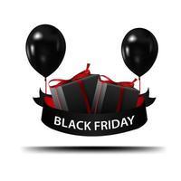 zwarte vrijdag bord met schaduw