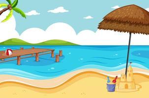 tropisch strand en zandstrand