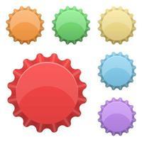 kleurrijke kroonkurk geïsoleerd vector