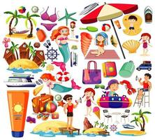 set van zomer strand iconen