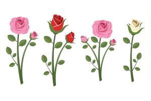 vintage mooie rozen vector