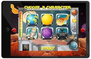 Galaxy-spel op tablet