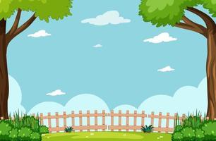 lege hemel in natuurpark
