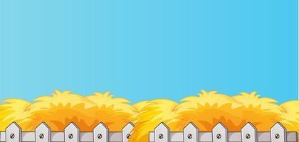 blauwe lege banner met stro