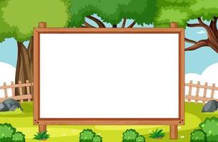 leeg houten frame in natuurparkscène