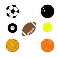 sport bal pictogramserie vector