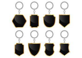 Set van sleutelhoudervectoren vector