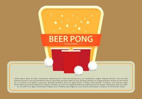 Bier Pong Champion Toernooi Logo Template vector