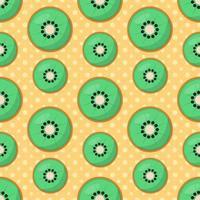 kiwi fruit naadloze patroon achtergrond vector