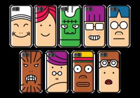 Telefoon Geval Cartoon Character vector