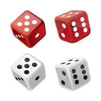 set van casino dobbelstenen vector
