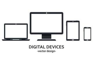 digitale apparaten geïsoleerd