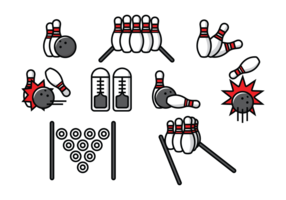 Bowlingbaan Vectorillustratie vector