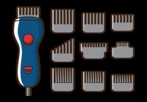Vector haarknipsels machine