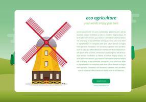 Agro Webpagina Sjabloon vector