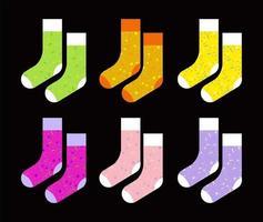kleurrijke sokken set