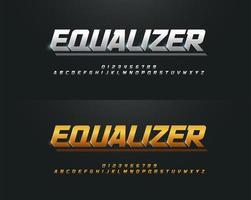 zilveren en gouden hoofdletters lettertype