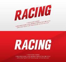 rode en witte sport moderne lettertypeset