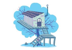 Fun Tree House Vectorillustratie