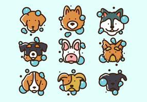 Vector Illustratie Hond Wassen
