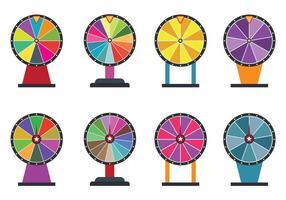 Set Spinning Wheel Vectors