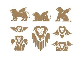 Gevleugelde Leeuwvectoren vector