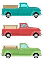 retro pickups geïsoleerd