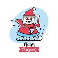 kerst, kerstman wenskaart