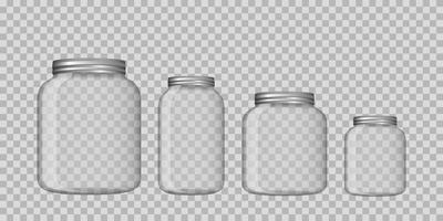 glazen pot geïsoleerd
