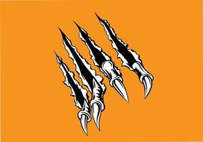 Metalen Tear Hand Teken Vector