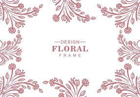 rode bloemen Decoratief frame vector