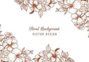 oranje elegante bloemenhoeken op wit