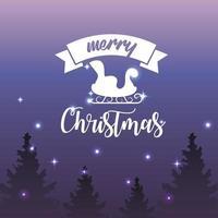 vrolijk kerstfeest vakantie poster