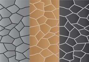3 Steenpadpatroon vector