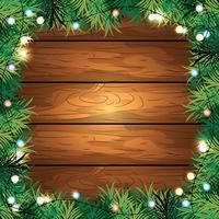 houten achtergrond met verlichting