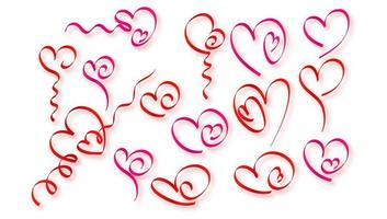 kleurrijke harten van lintreeks
