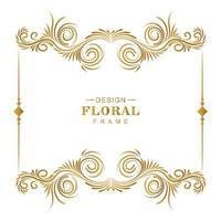 artistieke bloemen Decoratief frame vector