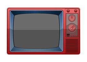 vintage oude televisie vector
