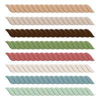 realistische touwcollectie vector
