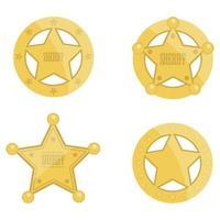 sheriff ster badges vector