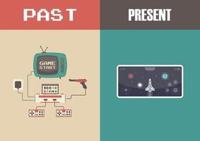 evolutie van videogametechnologie vector